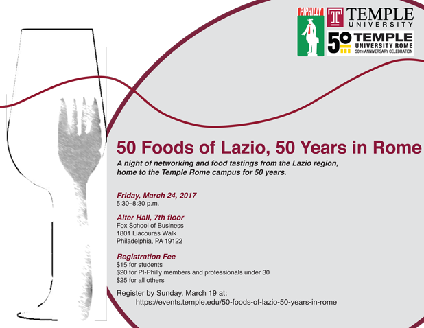 50 Foods of Lazio, 50 Years in Rome